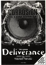ARTICLE - ADVERT 15/10/94PGN14 CORROSION OF CONFORMITY : DELIVERANCE ALBUM 7X5""