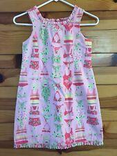 Lilly Pulitzer Swim Suit Bikini Print Shift Dress RARE Vintage VHTF Ruffled Sz 8
