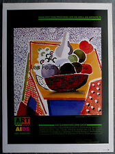 POSTER  DAVID HOCKNEY ART AGAINST AIDS LOS ANGELES   clipping