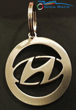 HYUNDAI CREST LOGO CAR KEY CHAIN KEYCHAIN KEYS RING PENDANT STEEL
