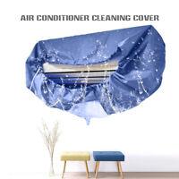Climatiseur nettoyage de la poussière couvre imperméable Protector bleu