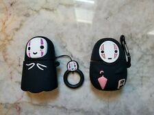 No Face Airpods Case - Spirited Away Ghibli Anime Style Silicone + Keychain Clip