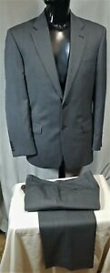 Size 104 NR BOSTON 2 button mens Lex Paul wool suit grey herringbone office