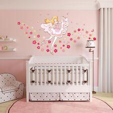 Wandtattoo Wandsticker süß Mädchen rosa rot Blumen pink Mode Star Schmetterling