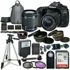 Canon EOS 80D Digital SLR Camera with Canon EF-S 18-55mm IS STM Lens + More