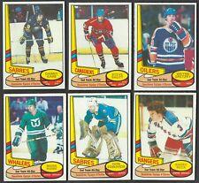 1980-81 OPC EDMONTON OILERS WAYNE GRETZKY ALL-STAR CARD #87 + 5 LOT NR-MINT/MINT