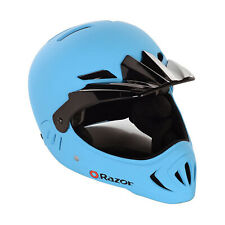 Razor Youth Child Full Face Riding Sport Scooter Safety Helmet, Matte Blue(Used)