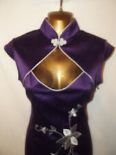 Oriental Chinese Purple Mandarin dress size 12 14