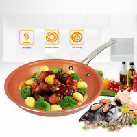 Healthy Non Stick Copper Ceramic Induction Bottom Frying Pan Skillet 4 Size US