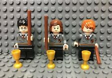 Lego Harry Potter Minifigures Lot 3 Ron Hermione Harry Retired Rare 4842 4738