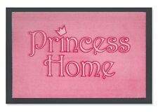Fußmatte Princess Home Fußabtreter rosa, FUN Türmatte Prinzessin Fussmatte