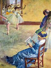 Edgar degassare durante lezioni di danza MADAME CARDINALE VECCHIA ARTE PITTURA STAMPA 706oma