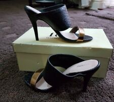 Ladies next evening sandals  ( 4UK &37)USED ONCE  (BLACK&GOLD)