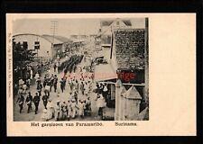 SURINAME HET GARNIZOEN VAN PARAMARIBO SOLDIERS MARCHING U/D POSTCARD E20C - Su01