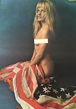 Peace Girl American Flag Naked Pin-up Woman Anti-war Peace Headshop 1970's USA