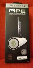 White Skullcandy Pipe Dock Desktop Speaker/Charger For 30 Pins Apple iPod/iphone