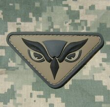 OWL HEAD PVC ARMY INTEL ISAF MILSPEC ACU VELCRO® BRAND FASTENER PATCH