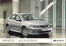 Subaru Impreza Accessories 2008 UK Market Sales Brochure 1.5 2.0 STi