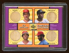 2001 UD QUAD GAME USED BAT ROBERTO CLEMENTE / JOHNNY BENCH / CONCEPCION / MADDOX