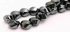 Spectacular Large Hematite Round Twist Focal Beads 10MM