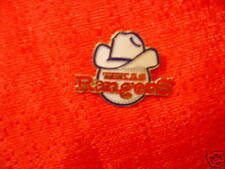 Texas Rangers Cowboy Hat on Baseball Pin MLB