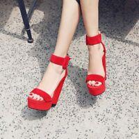 Women's Open Toes High Heels Open Toe Platform Sandals Ankle Strap Heels Shoes