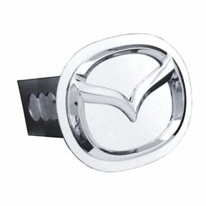 """Mazda Chrome Stainless Steel 1.25"""" Trailer Tow Hitch Cover"""