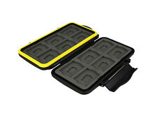 JJC Rugged Waterproof Memory Card Case for 12 Pcs MSD/TF Cards & 12 Pcs SD Cards
