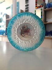 Genuine Jo Downs Bespoke Fused Glass Jellyfish Bowl Direct From The Studio