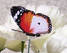 """Garden Decor Flower Pot Plant Pick Stake Colorful Butterfly NEW 12"""" tall #19"""