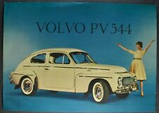 1960 Volvo PV 544 Sedan Sales Brochure Sheet Excellent Original 60