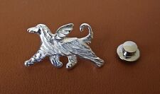 Sterling Silver Afghan Hound Angel Lapel Pin