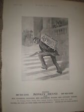 Brooke's Monkey Brand soap monkey suit hauls soap art advert 1896 Rf S