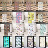 3D SHINY FLOWER WATERPROOF PRIVACY FROSTED PVC DECO GLASS STICKER WINDOW FILM