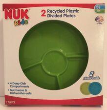 Nuk Kids Plastic Divided Plates Microwave 2ct per pack Dishwasher Safe BPA