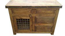 Rustic Reclaimed Wood Dungeon Door Bathroom Vanity Two Large Drawers
