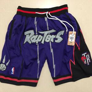 Vintage Toronto Raptors Basketball Shorts Men's Pants NWT stitching