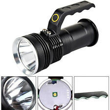 3-mode 3000LM Handheld CREE XM-L Flashlight Torch Rechargeable LED Lamp Zoomable