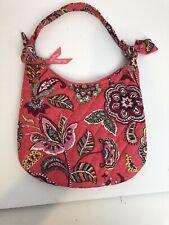 Vera Bradley Hobo Pink Flower Floral Small Quilted Handbag Purse