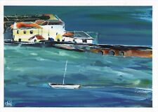 More details for original acrylic ink painting - a storm in st ives, cornwall