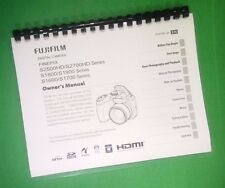 LASER PRINTED Fujifilm S1800 S1900 FinePix Camera 140 Page Owners Manual Guide