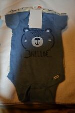 Gerber Organic Bear 3 pack bodysuit one piece NWT 12 months Baby Soft