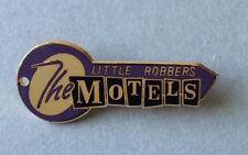 Vintage 83 THE MOTELS band PROMO pin Martha Davis key shape badge Little Robbers