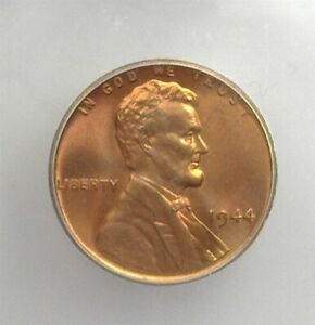 1944 LINCOLN CENT ICG MS-67 RED LISTS FOR $175