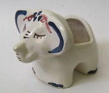 Vintage California Pottery Elephant Planter Figurine Hand Painted 40's/50's