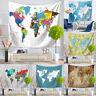 150*130cm World Map Tapestry Beach Towel Throw Wall Hanging Art Bedroom Decor