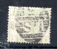 GB QV 1883 6d dull green fine used SG#194 WS13977