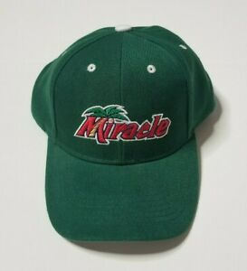 Fort Myers Miracle Baseball Cap Hat One Size Strapback Mighty Mussels Green