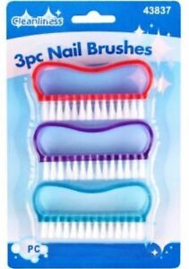 NAIL BRUSH FOR MANICURE & PEDICURE SCRUBBING CLEANING BRISTLES SIDES-free delive