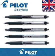 5x Pilot Hi-Tecpoint V5 RT Tinta Líquida Retráctil Rollerball Pluma Colores (negro)